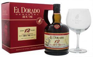 El Dorado Rum 12YO 0,7L + Ballon Glas