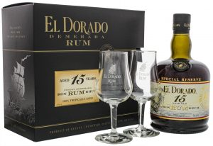 El Dorado Rum 15YO 0,7L + 2 Gläser