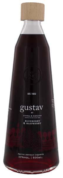Gustav Blueberry Raspberry Liqueur 0,5L