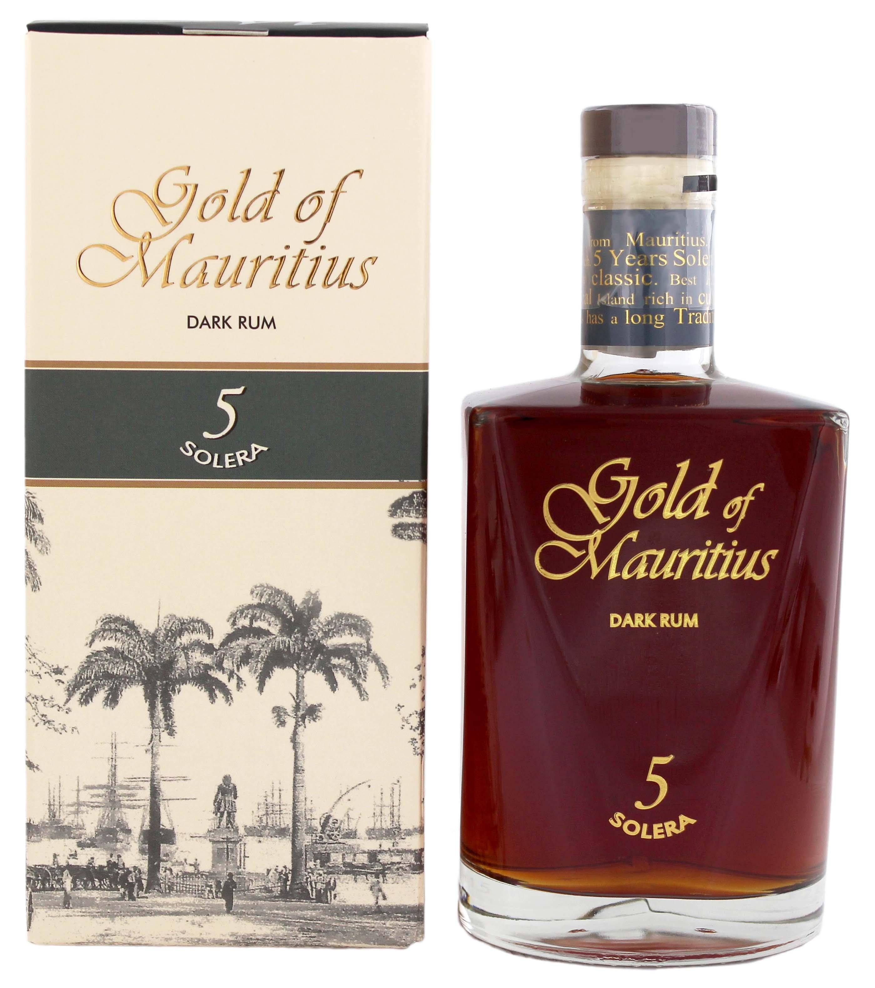 Gold of Mauritius Dark Rum Solera 5 0,7L