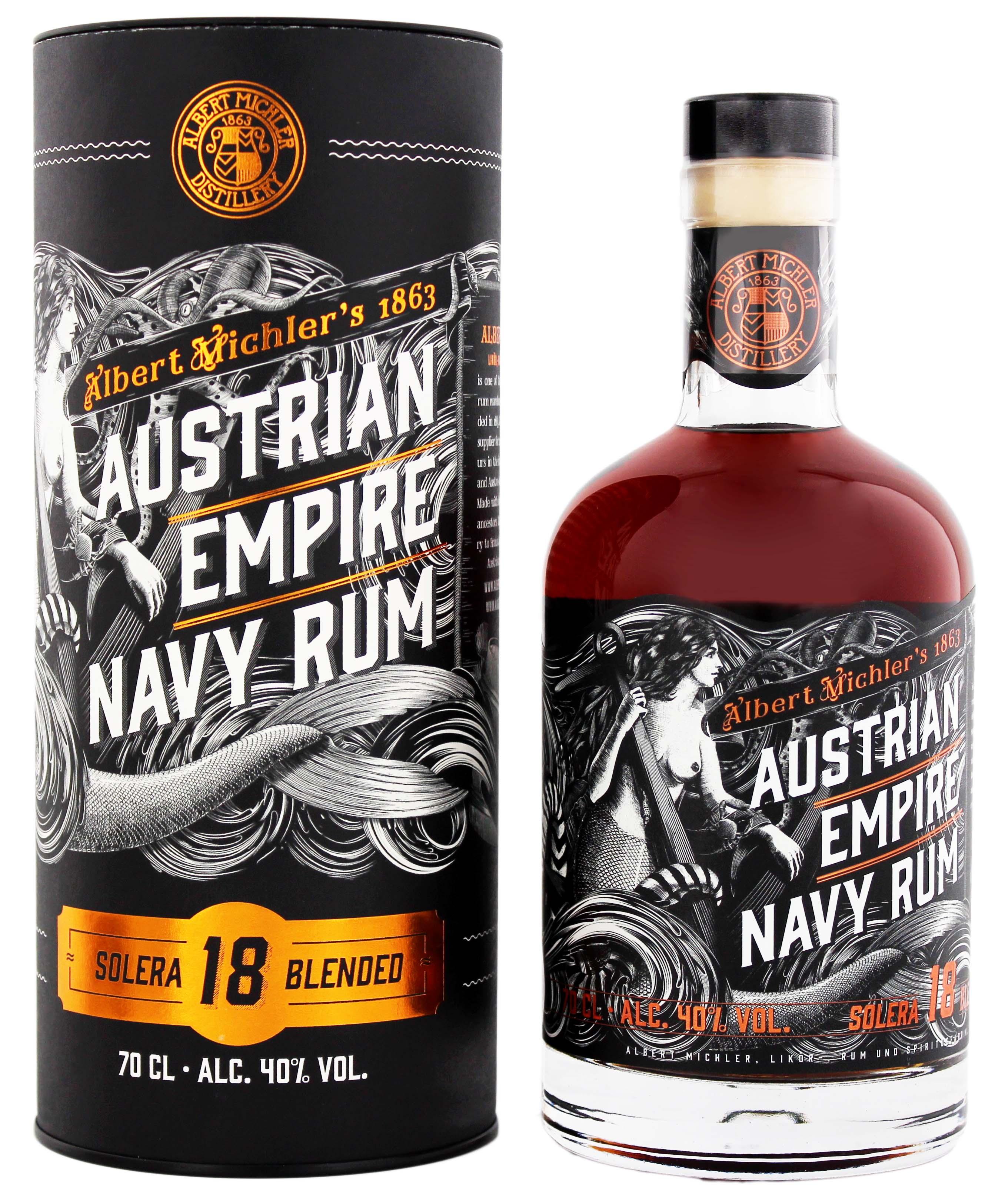 Austrian Empire Navy Rum Solera 18YO 0,7L