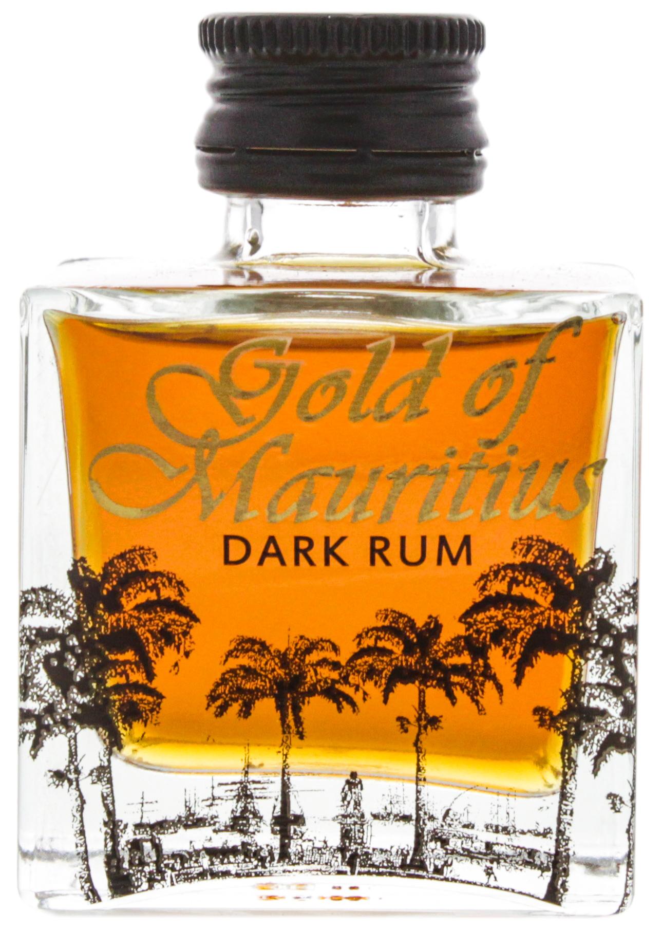 Gold of Mauritius Dark Rum Miniatures 0,05L