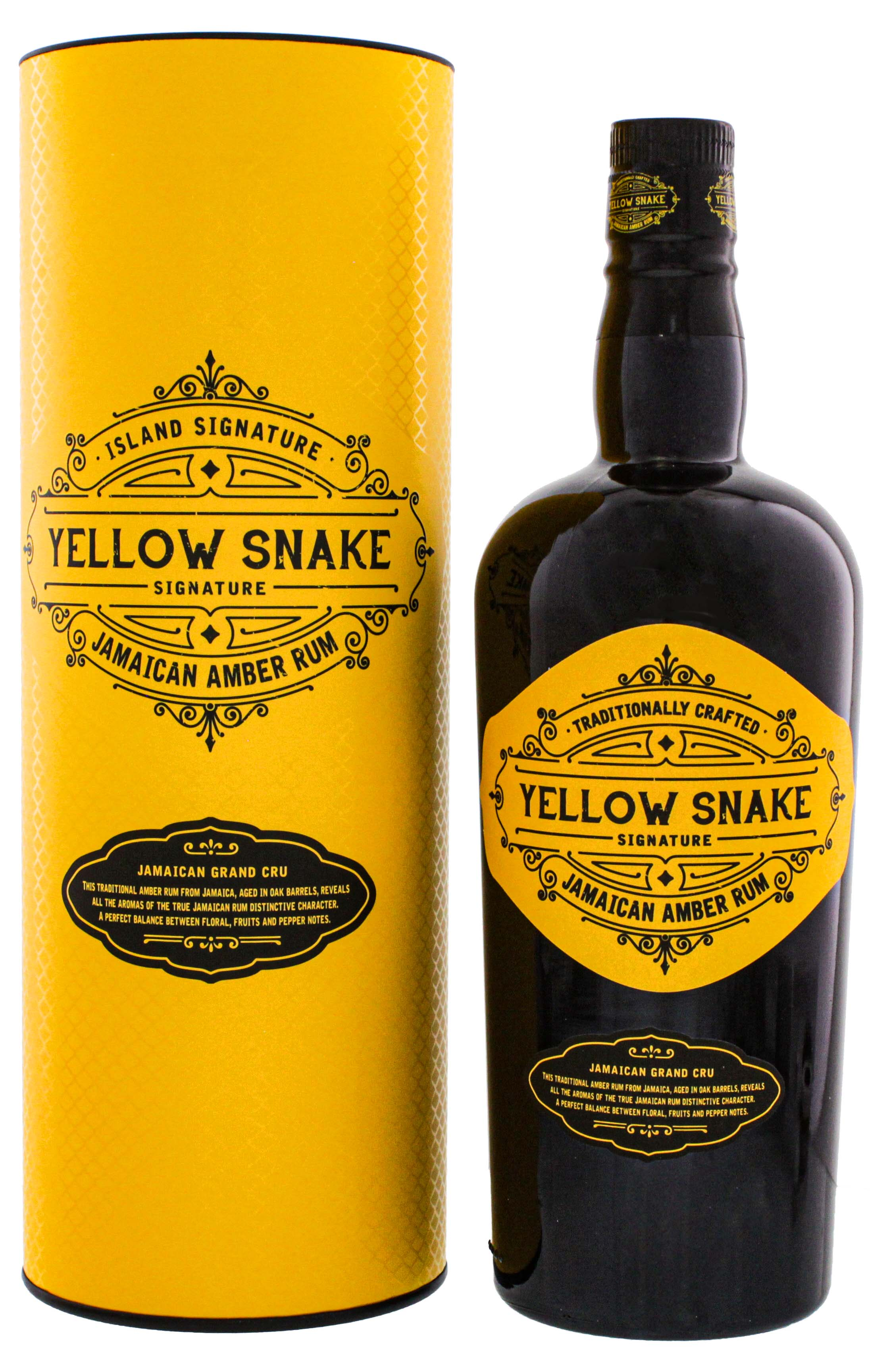 Island Signature Collection Yellow Snake Jamaican Amber Rum 0,7L