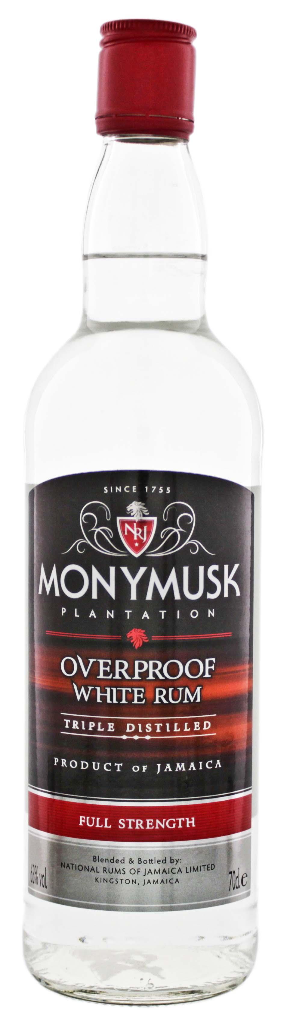 Monymusk Plantation Overproof White Rum 0,7L