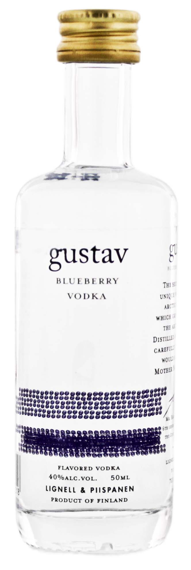 Gustav Blueberry Vodka Miniatures 0,05L