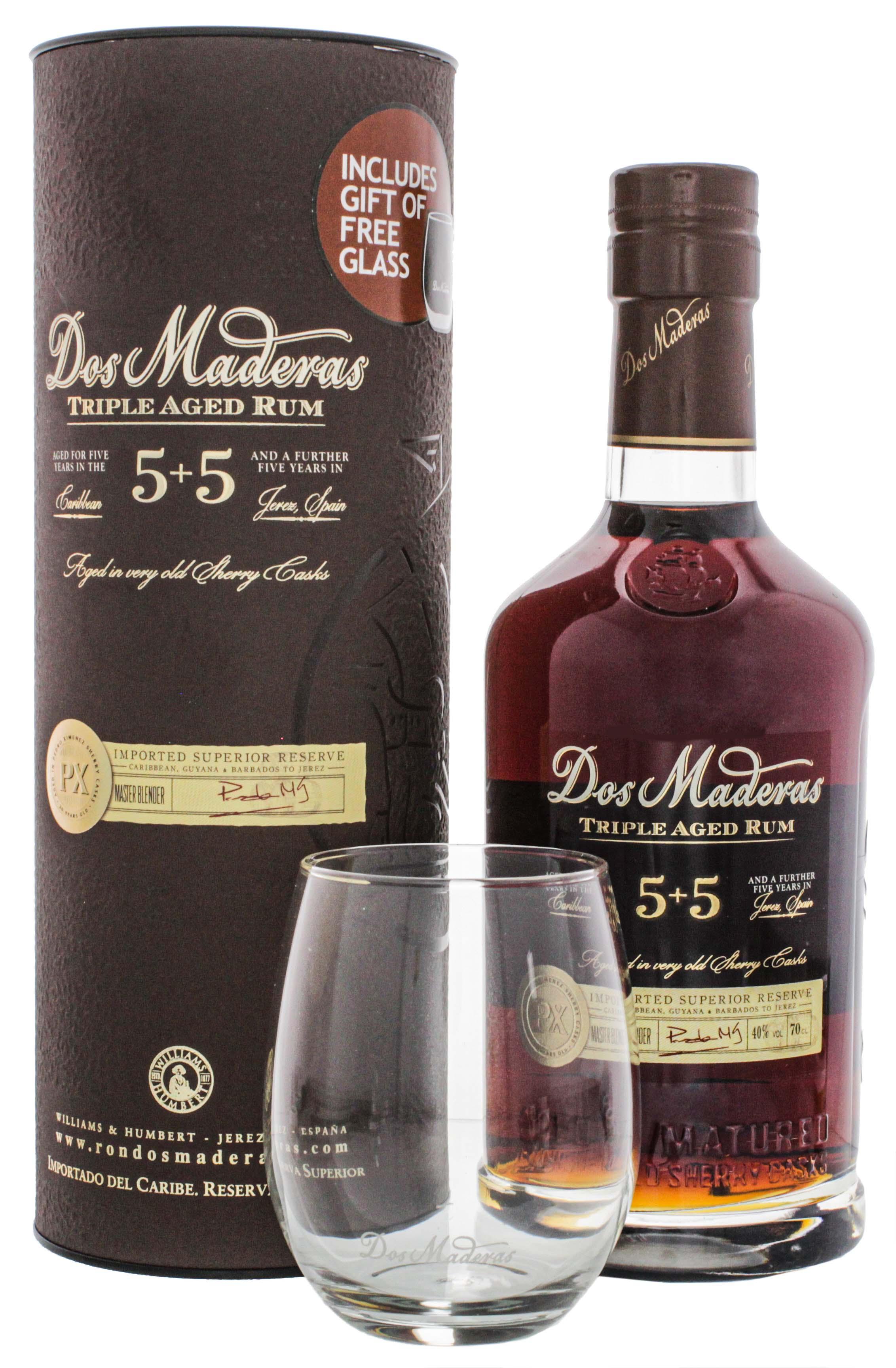 Dos Maderas PX Triple Aged 5+5 0,7L + Glas