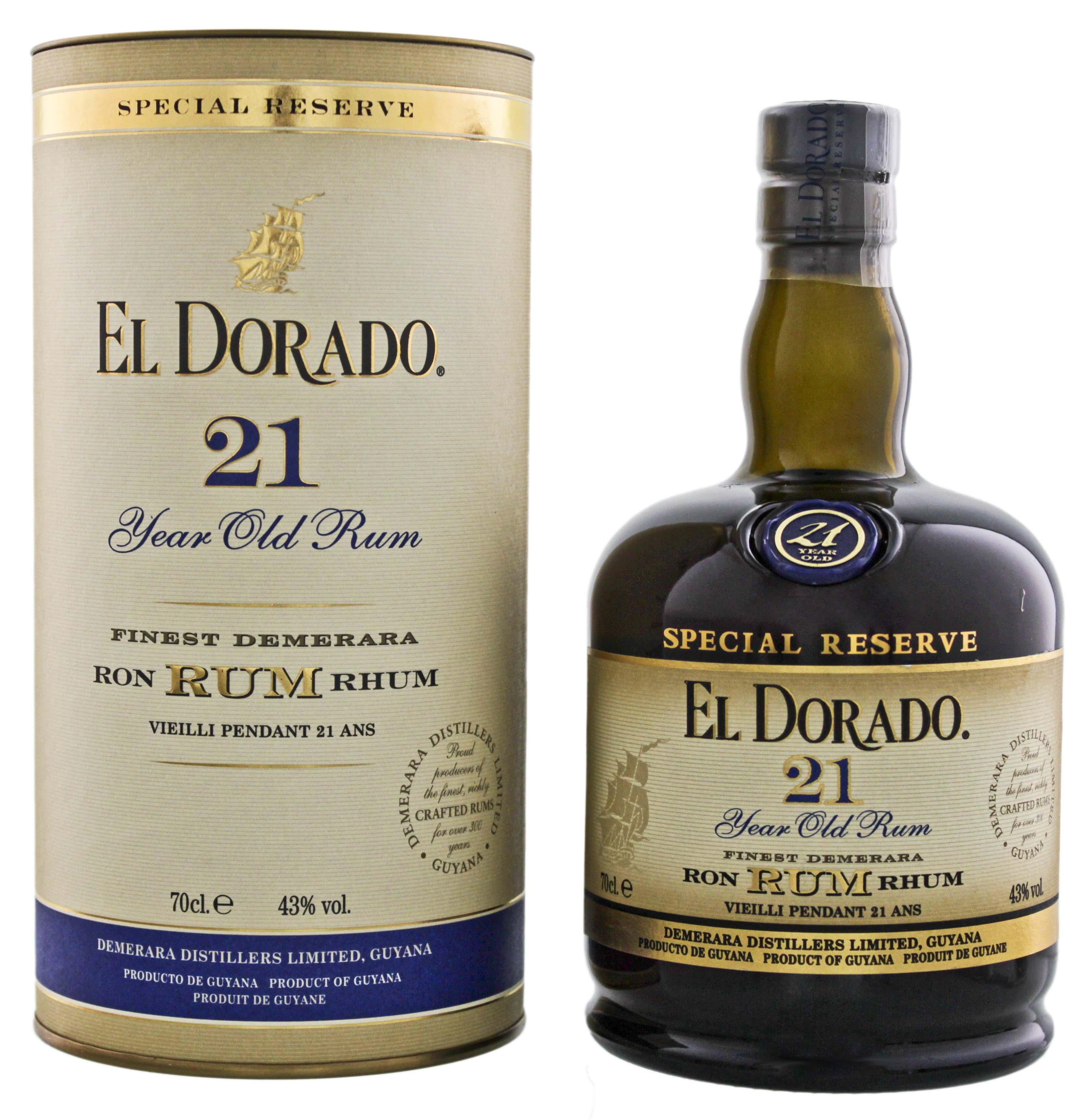 El Dorado Rum 21YO 0,7L