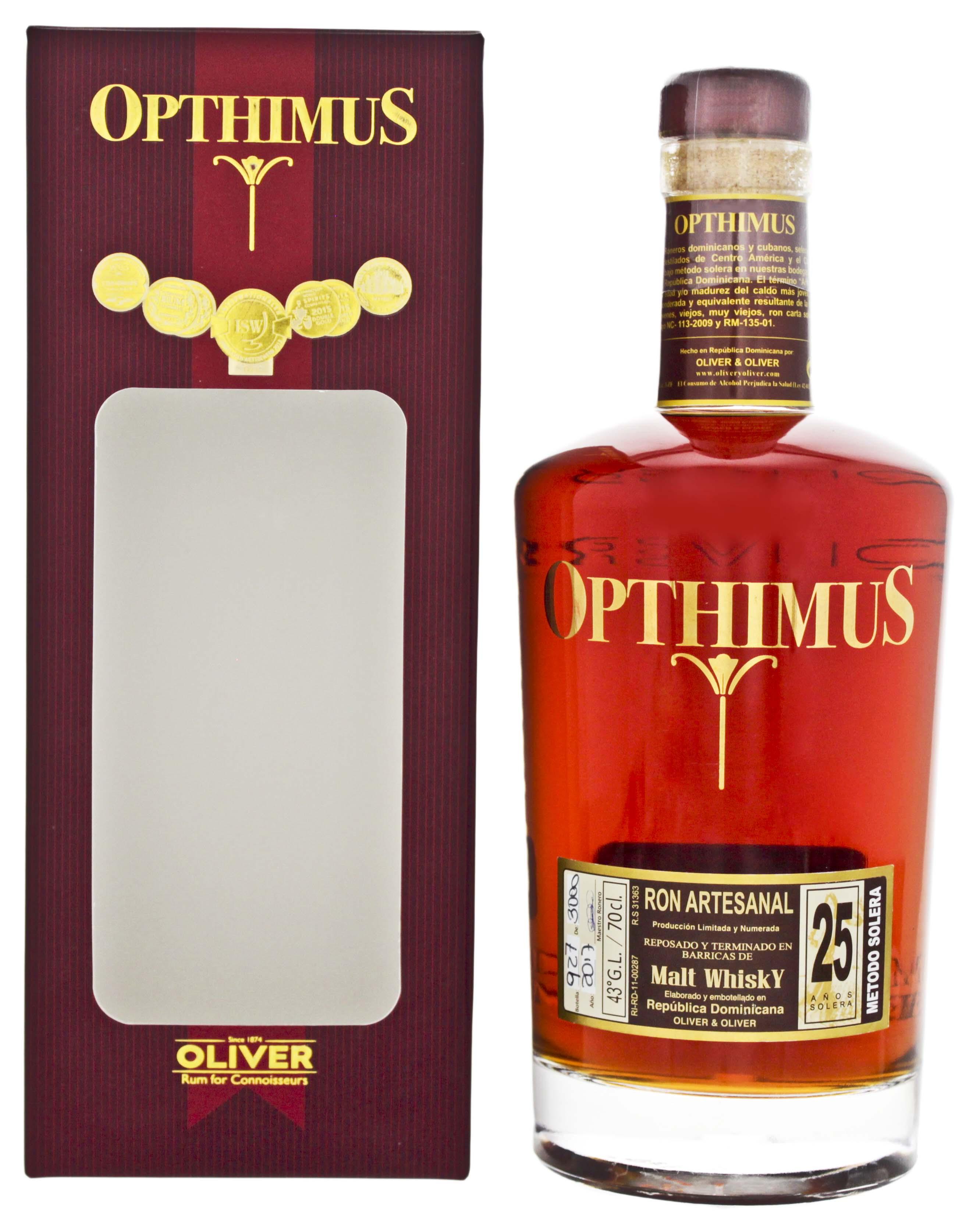 Opthimus 25YO Malt Whisky Finish 0,7L