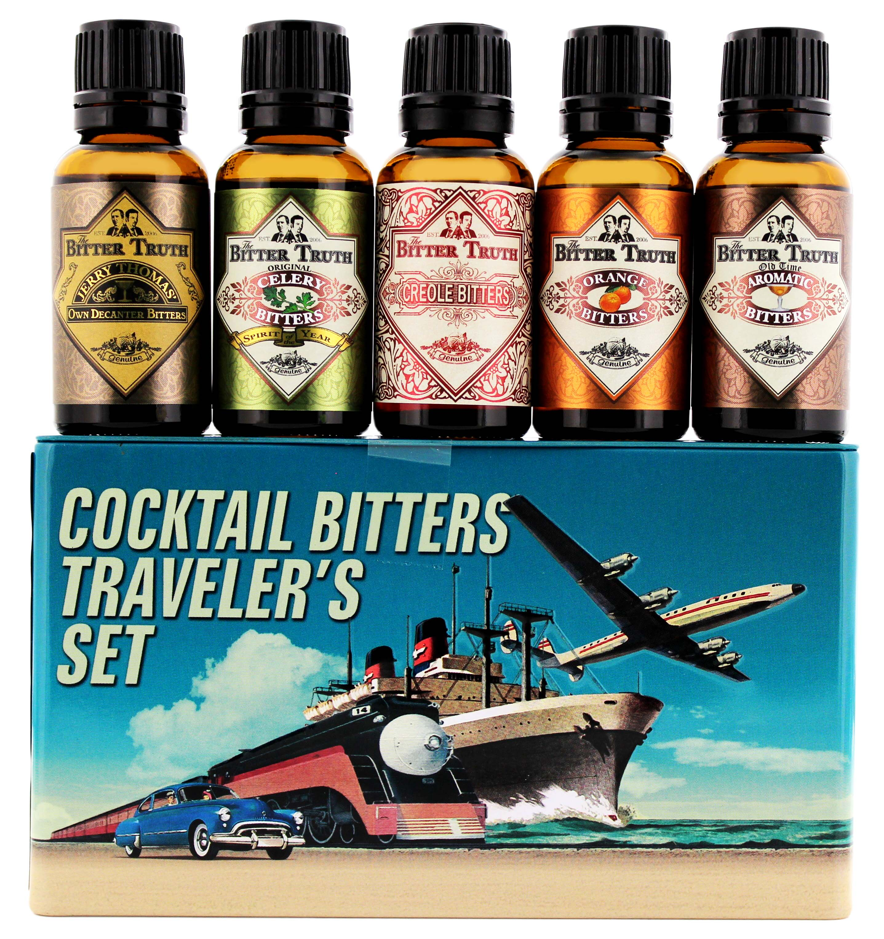The Bitter Truth Cocktail Bitters Travelers Set Tin 5×0,02L